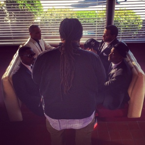 T.I. releases picture of the crew filming Part 2!